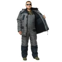 """Костюм зимний -30 °C """"Турист"""" для рыбалки и охоты - цвет черный/серый"""