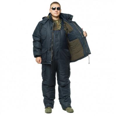 "Костюм зимний -30 °C ""Турист"" для рыбалки и охоты - Таслан синий"