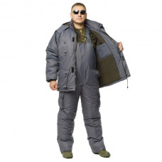 "Костюм зимний -30 °C ""Турист"" для рыбалки и охоты - Таслан серый"