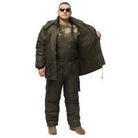 "Костюм зимний -30 °C ""Турист"" для рыбалки и охоты - Таслан олива-хаки"