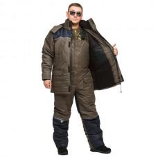 "Костюм зимний -30 °C ""Турист"" для рыбалки и охоты - цвет олива/синий"