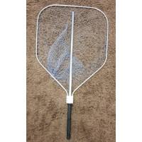 Подхват рыболовный алюминиевый  70 х 80 см (кордовая нить)