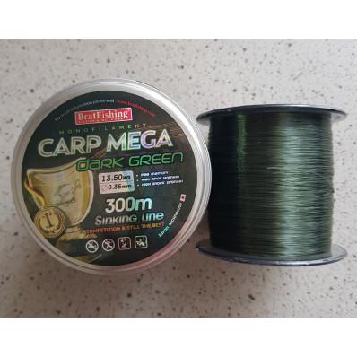 Леска рыболовная BratFishing carp mega dark green 300 м 0.35 мм