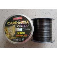 Леска рыболовная BratFishing carp mega camou 300 м 0,3 мм