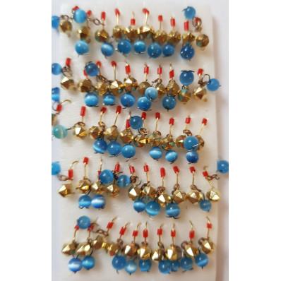 Мормышка вольфрам пирамида 4 золото кошачий глаз вес 0,55 г