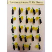 Мормышка вольфрам столбик со спилом d3 кр. Mustad вес 0.9 г