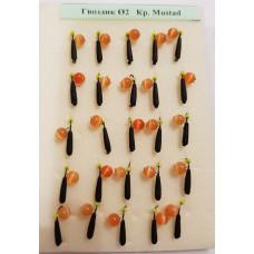 Мормышка вольфрам гвоздик Ф2 Кр. Mustad  вес 0,3г