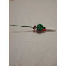 Удочка зимняя пенопластовая ручка открытая катушка