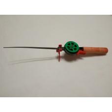 Удочка зимняя деревянная ручка открытая катушка