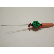 Удочка зимняя деревянная ручка закрытая катушка