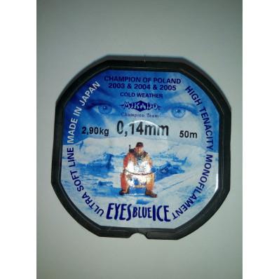 Леска Mikado Eyes Blue Ice 0,14mm (50 м) - 2.9 кг