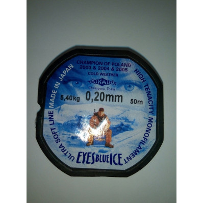 Леска Mikado Eyes Blue Ice 0,20mm (50 м) - 5.4 кг