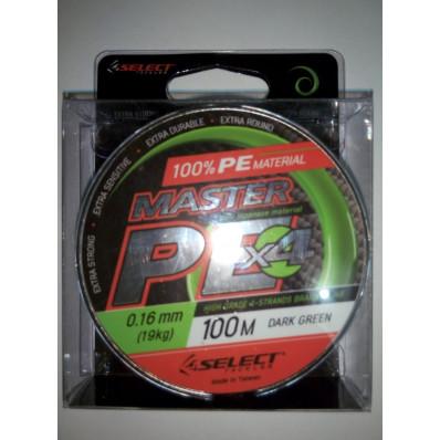 Шнур Select Master PE 100 м 0.16 мм 19 кг
