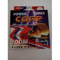 Леска POWER Carp Winner-100 м/0.28 мм 10.5 кг