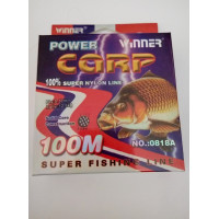 Леска POWER Carp Winner-100 м/ 0.30 мм 12.6 кг