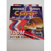 Леска POWER Carp Winner-100 м/0.35 мм 14.6 кг
