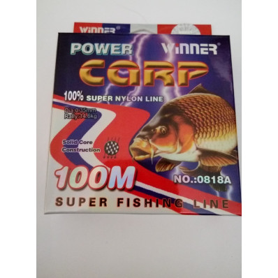 Леска POWER Carp Winner-100 м/0.35 мм 14.6 кг