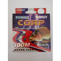 Леска POWER Carp Winner-100 м/ 0.40 мм 19.2 кг